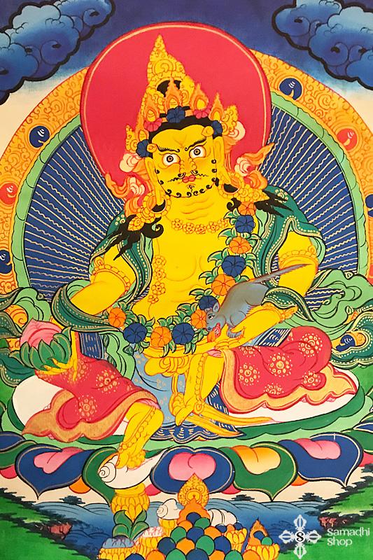 Sárga Dzambhala thangka 2