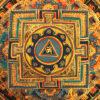 nepáli tibeti buddhista mandala thangka 12