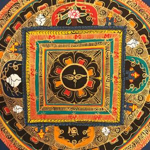 nepáli tibeti buddhista mandala thangka 82
