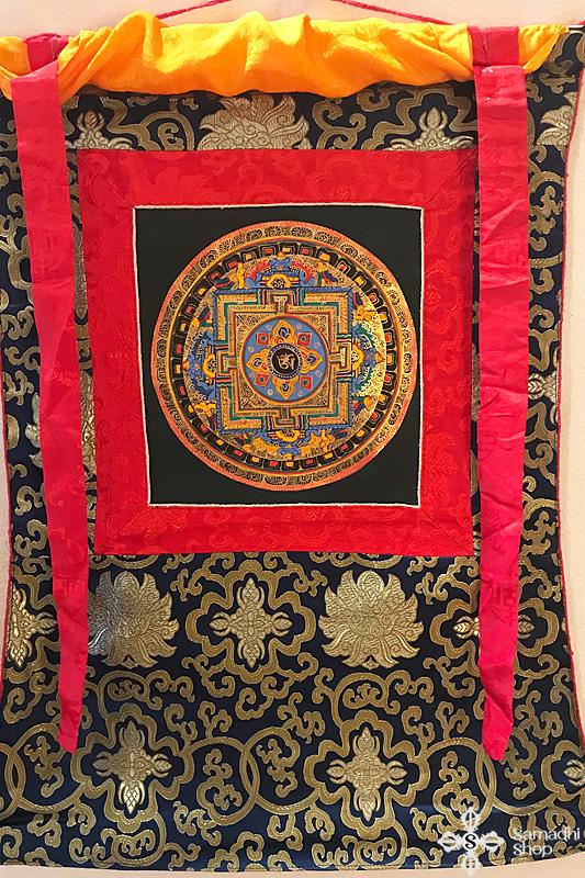 nepáli tibeti buddhista mandala thangka 91