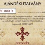 Samadhi buddhista tibeti bolt ajándék utalvány 50000Ft