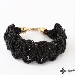 Gyöngykarkötő fekete