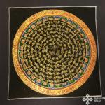 thma008 Samadhi Shop Nepáli Tibeti Buddhista Bolt mandala kalacsakra mantra festmény