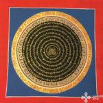 thma049 Samadhi Shop Nepáli Tibeti Buddhista Bolt mandala kalacsakra mantra festmény