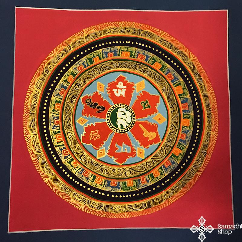 thma094 Samadhi Shop Nepáli Tibeti Buddhista Bolt mandala kalacsakra mantra festmény