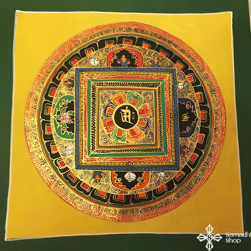 thma158 Samadhi Shop Nepáli Tibeti Buddhista Bolt mandala kalacsakra mantra festmény