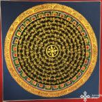 thma201 Samadhi Shop Nepáli Tibeti Buddhista Bolt mandala kalacsakra mantra festmény