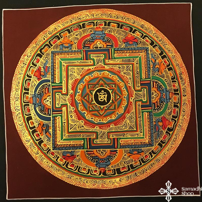 thma203 Samadhi Shop Nepáli Tibeti Buddhista Bolt mandala kalacsakra mantra festmény