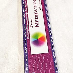 Satya Meditation indiai prémium füstölő