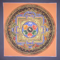 Buddhista mandala festmények