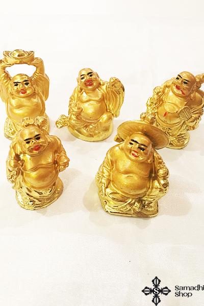 Bőséghozó Buddha szobrocska Feng Shui kiegészítő