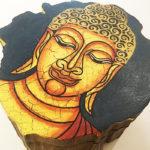 Egyedi festett Buddha farönk ékszeresdoboz 0
