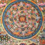 Buddha mandala kézzel festett nepáli festmény