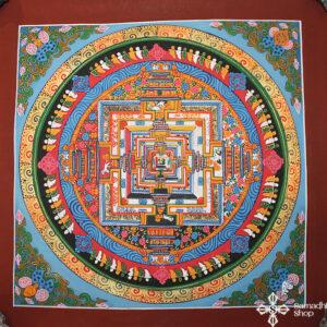 Kalacsakra mandala kézzel festett nepáli festmény thma100