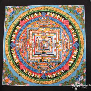 Kalacsakra mandala kézzel festett nepáli festmény thma204