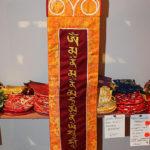 Sakjamuni Buddha brokát fali függő