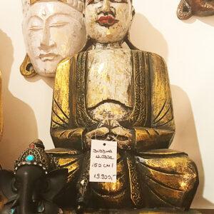 riás faragott fa buddha szobor samadhi shop nepáli tibeti bolt 02 1