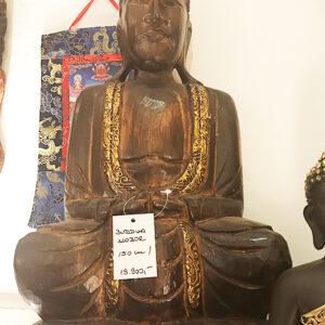 riás faragott fa buddha szobor samadhi shop nepáli tibeti bolt 04 1