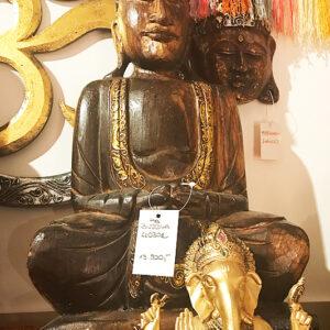 riás faragott fa buddha szobor samadhi shop nepáli tibeti bolt 06 1