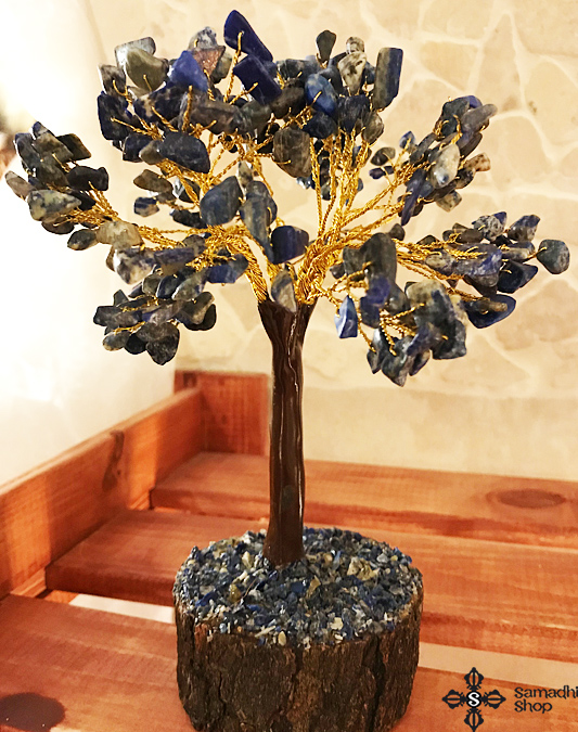 Lápisz lazuli féldrágakő ásvány szerencsefa életfa