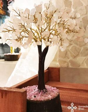 Rózsakvarc-féldrágakő-ásvány-szerencsefa-életfa