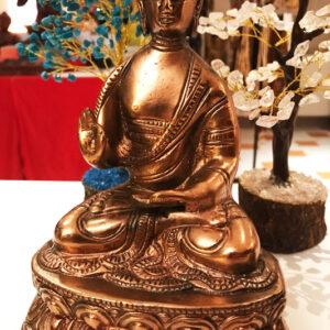 fém ülő buddha szobor 1