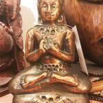 tömör bronz buddha szobor 1