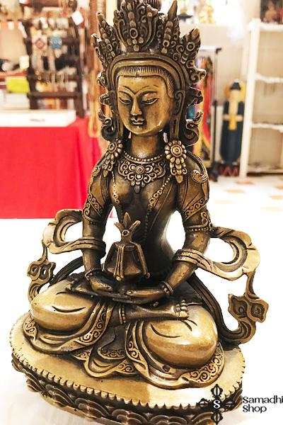Amitájusz Buddha sárgaréz szobor nagy méretű 1