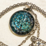 Mandala üveg függős nyaklánc s12818