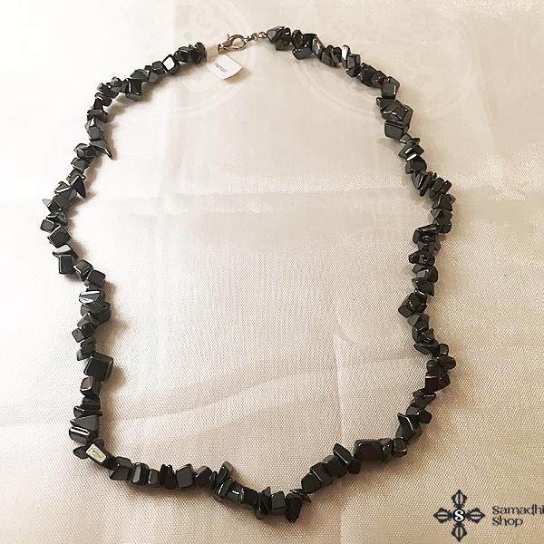 Hematit féldrágakő nyaklánc 50cm