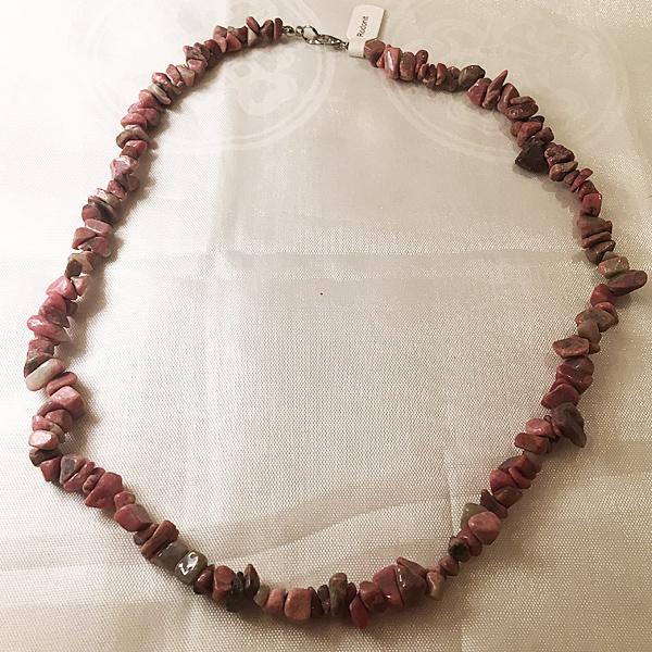 Rodonit féldrágakő nyaklánc 50cm