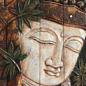 Faragott Buddha falikép