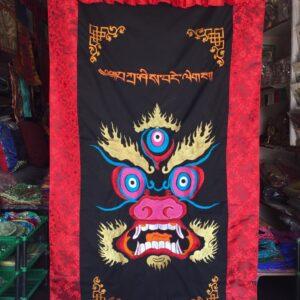 Mahakála hímzett nepáli ajtófüggöny 1