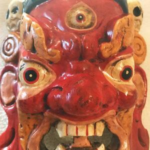 Fából faragott nepáli Mahakála maszk 1