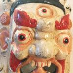 Fából faragott nepáli Mahakála maszk 4