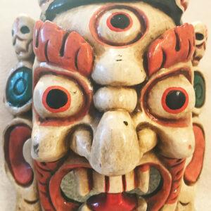 Fából faragott nepáli Mahakála maszk 5