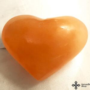 Szelenit szív aranysárga kb. 120 125 gramm55x7 cm