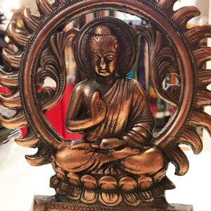 Buddha fali függő vagy asztali dísz bronz színű