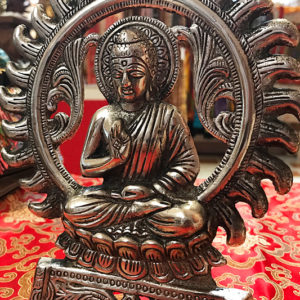 Buddha fali függő vagy asztali dísz ezüst színű