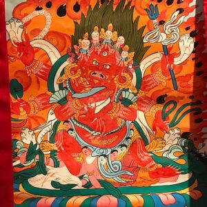 Vörös Mahakála thangka12