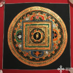 s14269 nepáli tibeti buddhista mandala festmény tibetan buddhist mandala painting