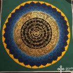 s14270 nepáli tibeti buddhista mandala festmény tibetan buddhist mandala painting