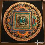 s14273 nepáli tibeti buddhista mandala festmény tibetan buddhist mandala painting