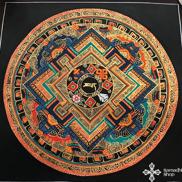 thma003 nepáli tibeti buddhista mandala festmény tibetan buddhist mandala painting