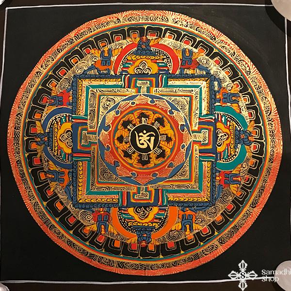 thma055 nepáli tibeti buddhista mandala festmény tibetan buddhist mandala painting