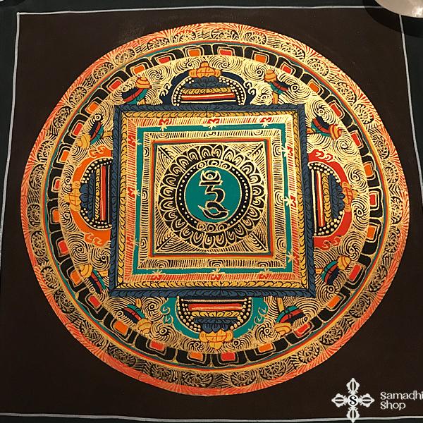 thma061 nepáli tibeti buddhista mandala festmény tibetan buddhist mandala painting