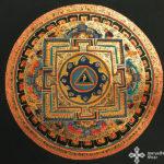 thma079 nepáli tibeti buddhista mandala festmény tibetan buddhist mandala painting