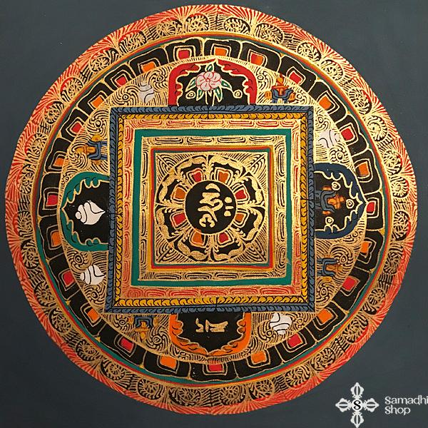 thma095 nepáli tibeti buddhista mandala festmény tibetan buddhist mandala painting