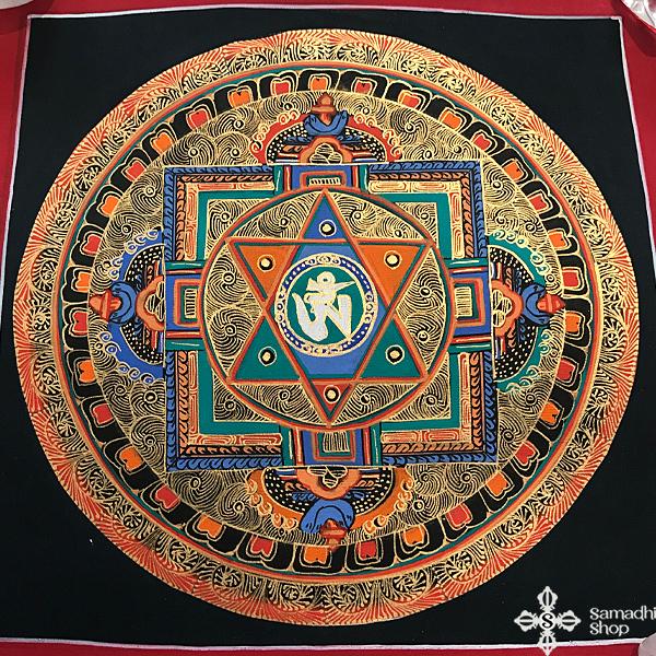 thma104 nepáli tibeti buddhista mandala festmény tibetan buddhist mandala painting