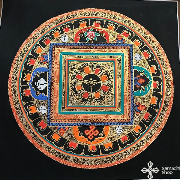 thma111 nepáli tibeti buddhista mandala festmény tibetan buddhist mandala painting